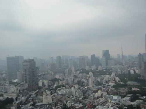 東京タワーはかろうじてボンヤリ見える。。